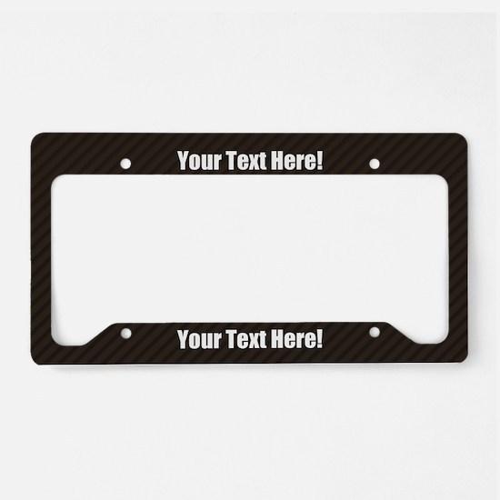 Custom Text Carbon License Plate Holder