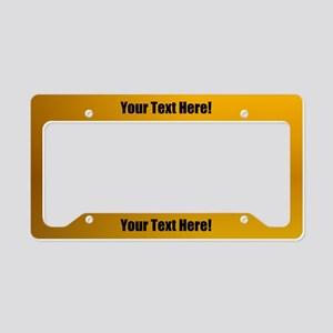 Custom Gold License Plate Holder