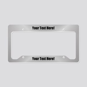 Custom Text License Plate Holder