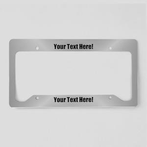 Custom Text License Plate Holder