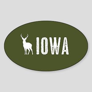 Deer: Iowa Sticker (Oval)