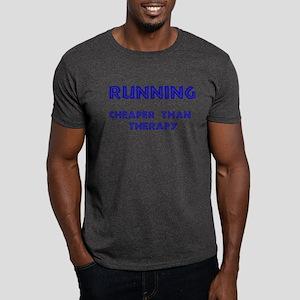 Running: Cheaper than therapy Dark T-Shirt