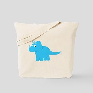 Cute Triceratops Dinosaur Tote Bag