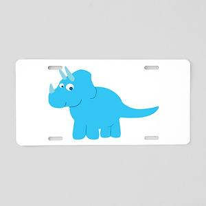 Cute Triceratops Dinosaur Aluminum License Plate