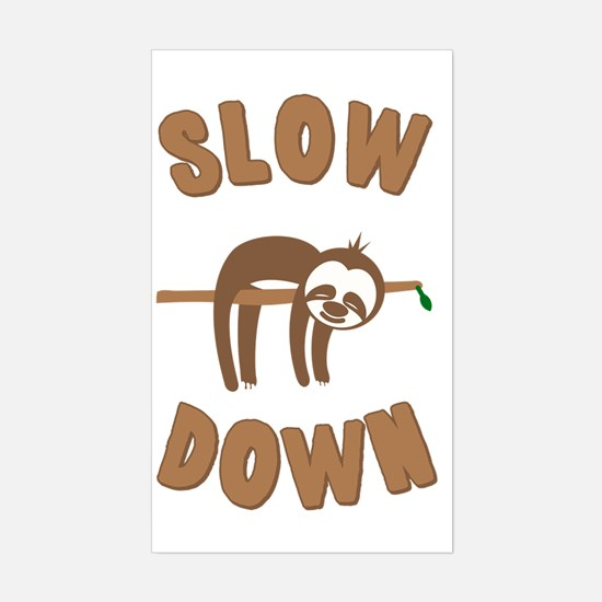 Cool Sloth Sticker (Rectangle)