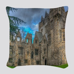 Donegal Castle Woven Throw Pillow