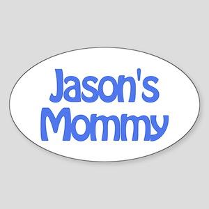 Jason's Mommy Oval Sticker