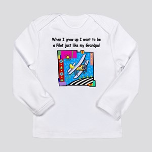 pilot grandpa Long Sleeve T-Shirt