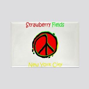 """""""STRAWBERRY FILEDS NYC"""" Rectangle Magnet"""