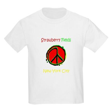 """STRAWBERRY FILEDS NYC"" Kids Light T-Shirt"