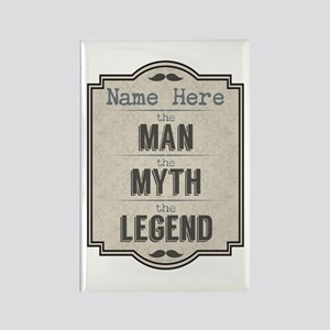 Personalized Man Myth Legend Rectangle Magnet