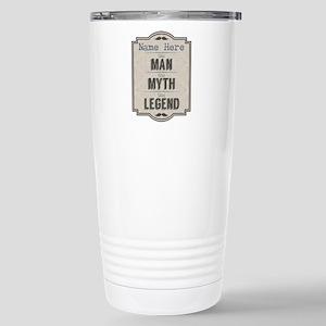 Personalized Man Myth L Stainless Steel Travel Mug
