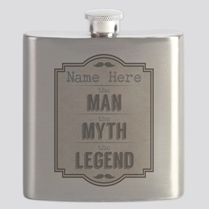 Personalized Man Myth Legend Flask