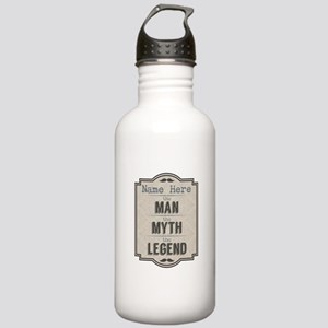 Personalized Man Myth Stainless Water Bottle 1.0L