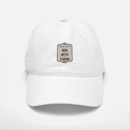 Personalized Man Myth Legend Baseball Baseball Cap