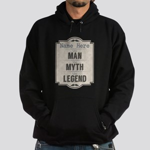 Personalized Man Myth Legend Hoodie (dark)