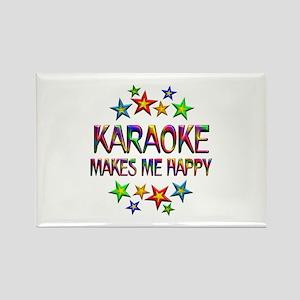 Karaoke Happy Rectangle Magnet
