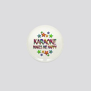 Karaoke Happy Mini Button