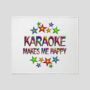 Karaoke Happy Throw Blanket