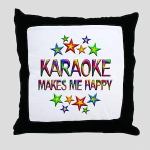 Karaoke Happy Throw Pillow