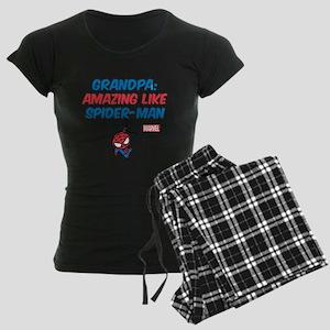 Amazing Spider-Man Grandpa Women's Dark Pajamas