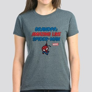 Amazing Spider-Man Grandpa Women's Dark T-Shirt