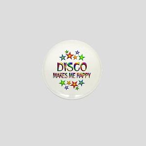 Disco Happy Mini Button