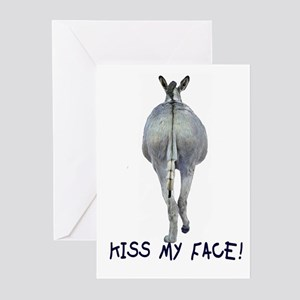KISS MY FACE Greeting Cards (Pk of 10)