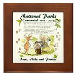 National Parks Centennial Framed Tile
