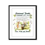 National Parks Centennial Framed Panel Print