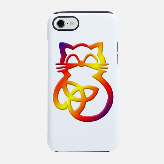 Rainbow Trinity Knot Celtic Cat iPhone 8/7 Tough C