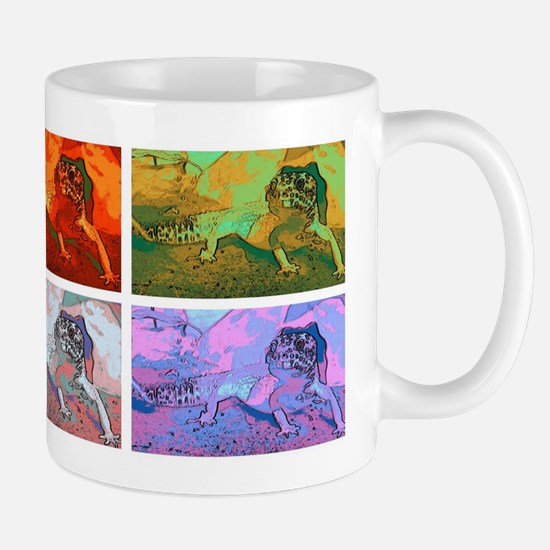 Pop art leopard gecko Mugs