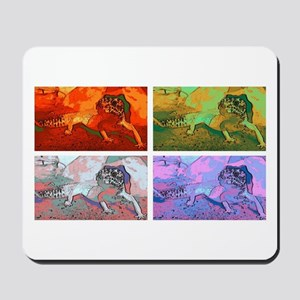 Pop art leopard gecko Mousepad
