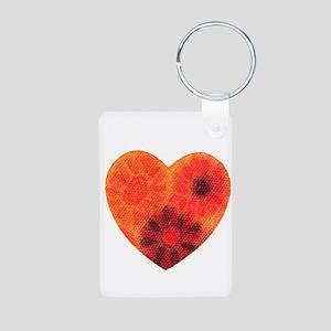 Orange tye dye heart Keychains