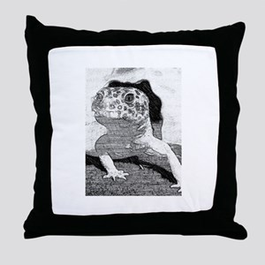 Leopard gecko sketch Throw Pillow