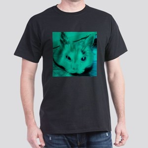 Green pop art cat T-Shirt