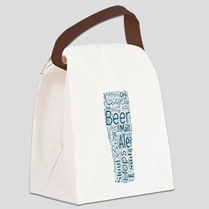 Beer Typography Canvas Lunch Bag