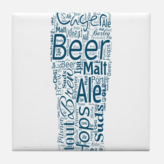 Beer Typography Tile Coaster