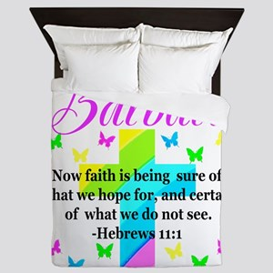 HEBREWS 11:1 Queen Duvet