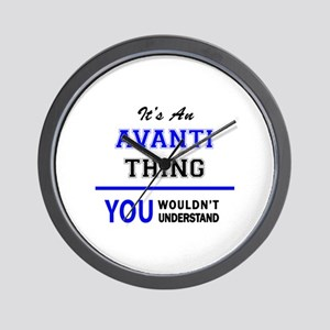 It's an AVANTI thing, you wouldn't unde Wall Clock