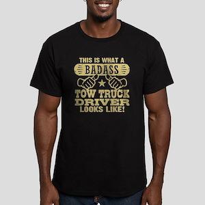 Badass Tow Truck Drive Men's Fitted T-Shirt (dark)