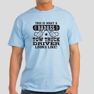 Badass Tow Truck Driver Light T-Shirt