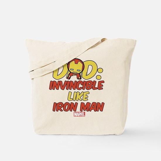 Invincible Iron Man Dad Tote Bag