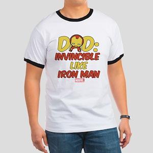 Invincible Iron Man Dad Ringer T