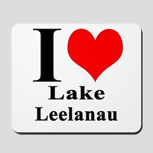 I heart Lake Leelanau Mousepad