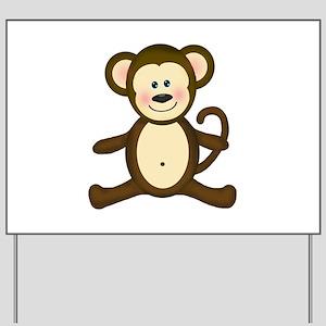 Smiling Baby Monkey Yard Sign