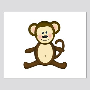 smiling baby monkey posters