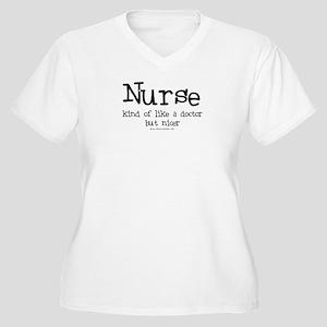 Nurse like Doctor Women's Plus Size V-Neck T-Shirt