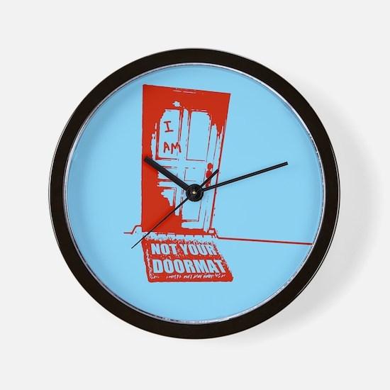 Not Your Doormat Wall Clock