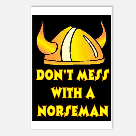 DON'T MESS WITH A NORSEMAN Postcards (Package of 8